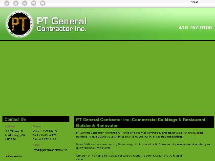 Pt General Contractor Inc (416-757-9100) - Onglet de site Web - http://ptgeneralcontractor.ca/
