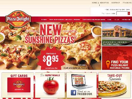 Pizza Delight (1-877-257-3834) - Onglet de site Web - http://www.pizzadelight.com