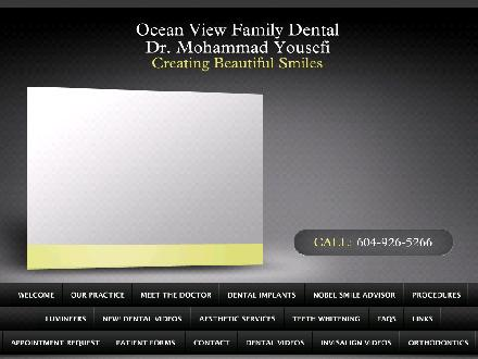 OceanView Family Dental (604-926-5266) - Onglet de site Web - http://www.oceanviewfamilydental.ca