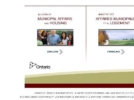 Municipal Affairs and Housing (1-800-461-1193) - Website thumbnail - http://www.mah.gov.on.ca