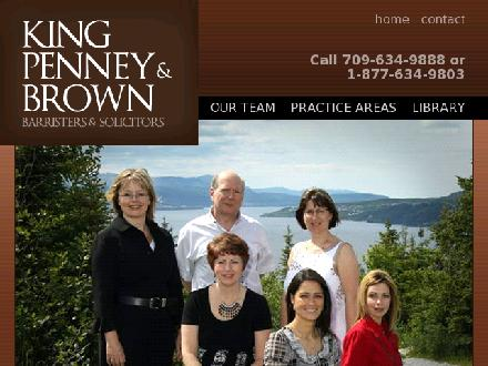 King Penney & Brown (709-634-9888) - Website thumbnail - http://www.kingpenney.com