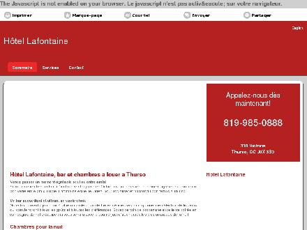 Hotel Lafontaine (819-985-0888) - Website thumbnail - http://hotellafontaine.ca/