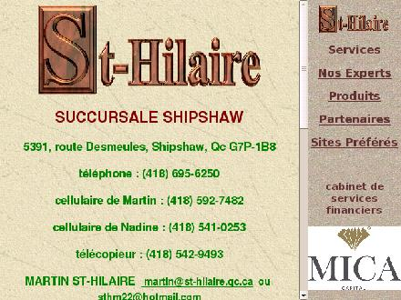 Services Financiers St-Hilaire (418-547-5512) - Onglet de site Web - http://www.st-hilaire.qc.ca