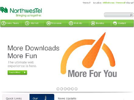 Northwestel (1-888-423-2333) - Website thumbnail - http://www.nwtel.ca