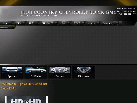 High Country Chevrolet Buick GMC Ltd (403-652-2000) - Onglet de site Web - http://www.highcountrychev.com