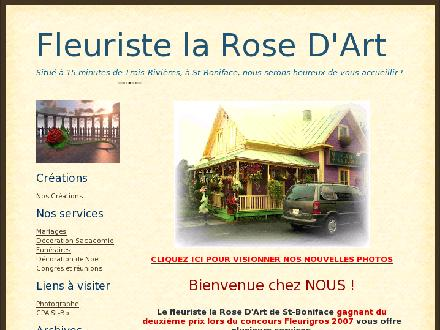 Fleuriste La Rose D'Art (1-888-660-8872) - Onglet de site Web - http://www.fleuristelarosedart.blogspot.com