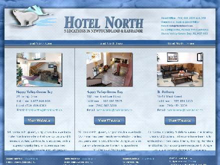 Hotel North 2 (1-888-892-5505) - Website thumbnail - http://www.hotelnorth.ca