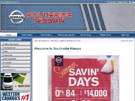 Southside Nissan Ltd (604-324-4644) - Onglet de site Web - http://www.southsidenissan.ca