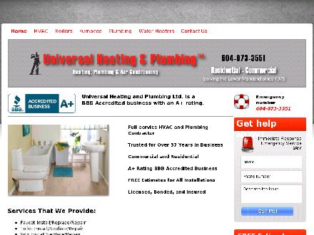 Universal Heating Ltd (604-696-4623) - Onglet de site Web - http://www.universalheating.ca