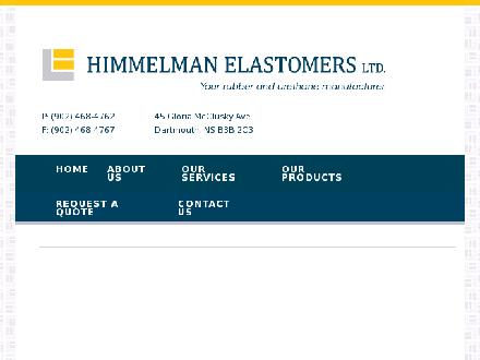 L Himmelman Elastomers Limited (902-468-4762) - Website thumbnail - http://www.himmelmanelastomers.ns.ca/