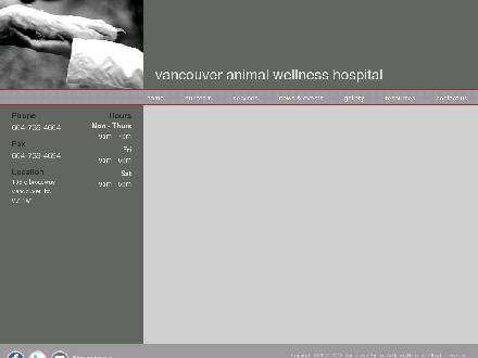 Vancouver Animal Wellness Hospital (604-738-4664) - Website thumbnail - http://www.vancouveranimalwellness.com
