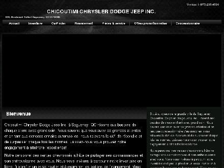 Chicoutimi Chrysler Dodge Jeep Inc (418-549-2873) - Website thumbnail - http://www.chicoutimichrysler.ca
