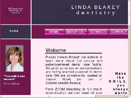 Blakey Linda Dr (709-747-7774) - Onglet de site Web - http://www.blakeydds.ca