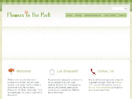 Flowers In The Park (780-410-8991) - Onglet de site Web - http://www.flowersinthepark.com