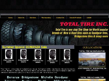 Total Tire Inc (905-632-3500) - Website thumbnail - http://www.totaltire.net