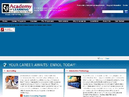 Academy of Learning Career and Business College (403-347-6676) - Onglet de site Web - http://www.academyoflearning.ab.ca