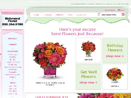 Richmond Florist (226-270-0071) - Website thumbnail - http://www.richmondflorist.ca