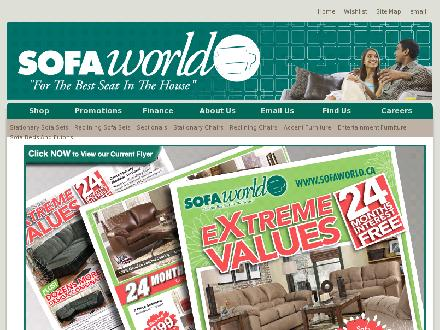 Sofa World (613-723-7632) - Onglet de site Web - http://www.sofaworld.ca