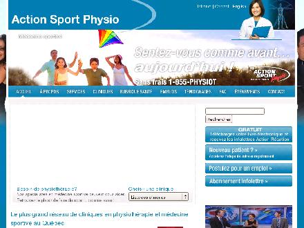 Action Sport Physio (450-432-0422) - Website thumbnail - http://www.actionsportphysio.com