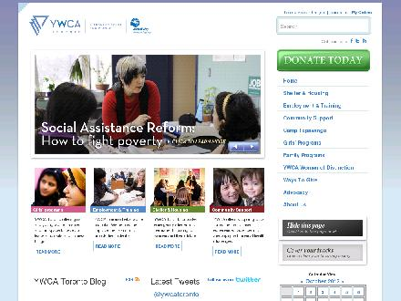 YWCA Toronto (416-961-8100) - Onglet de site Web - http://www.ywcatoronto.org