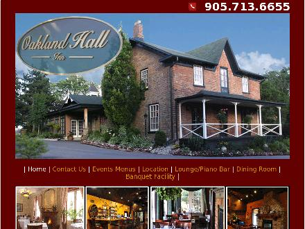 Oakland Hall Inn (905-713-6655) - Website thumbnail - http://www.oaklandhallinn.com