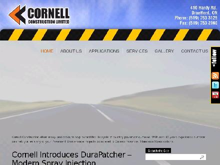 Cornell Construction Ltd (519-753-3125) - Onglet de site Web - http://www.cornellconstruction.ca
