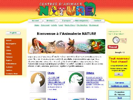 Centre d'Animaux Nature (514-353-7611) - Website thumbnail - http://www.naturepet.com