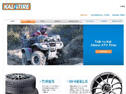 Kal Tire - Website thumbnail - http://www.kaltire.com