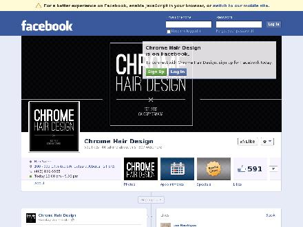 Chrome Hair Design (403-817-0924) - Website thumbnail - http://www.chromehair.com
