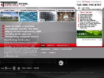Tresman Steel Industries Ltd (905-795-8757) - Website thumbnail - http://www.tresmansteel.com