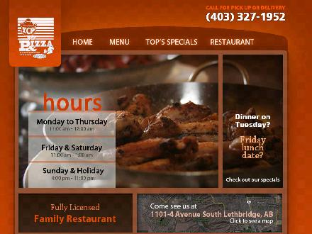 Top Pizza & Spaghetti House (2004) Ltd (403-359-9069) - Onglet de site Web - http://www.top-pizza.com