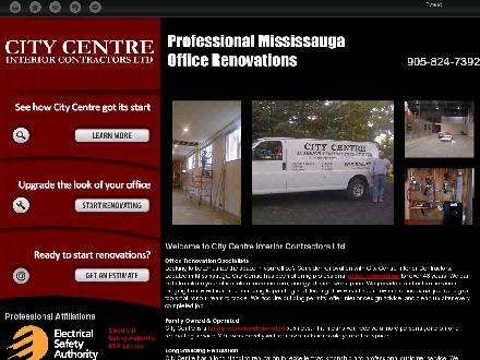 City Centre Interior Contractors Ltd (289-814-4947) - Onglet de site Web - http://citycentrecontractors.ca/