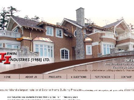 Irwin Industries (1988) Ltd (250-382-5154) - Website thumbnail - http://www.irwinvi.com