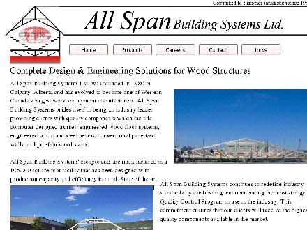 All Span Building Systems Ltd (403-932-7878) - Website thumbnail - http://www.allspan.com