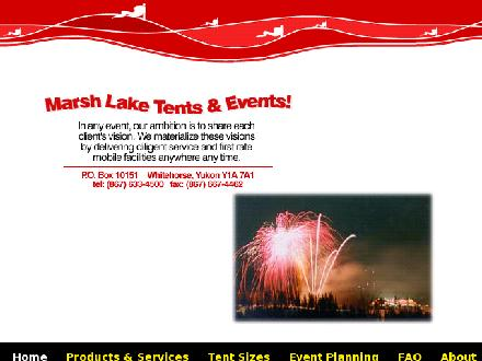 Marsh Lake Tents&Events (867-633-4500) - Onglet de site Web - http://www.tentsevents.com