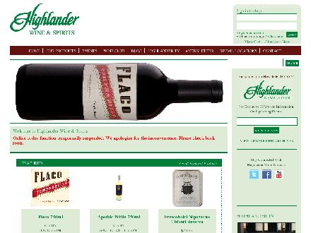 Highlander Wine & Spirits (403-777-1922) - Website thumbnail - http://www.highlanderwine.com