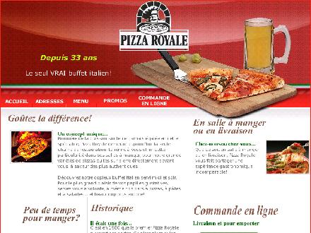 Pizza Royal (418-660-8000) - Onglet de site Web - http://www.pizzaroyale.com