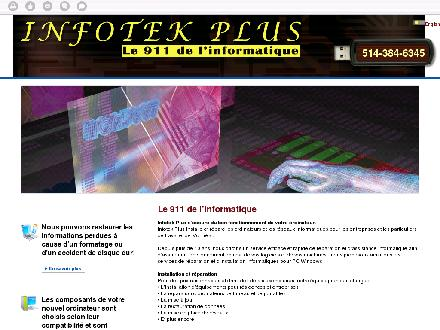 Infotek Plus (514-384-6345) - Website thumbnail - http://www.infotekplus.ca