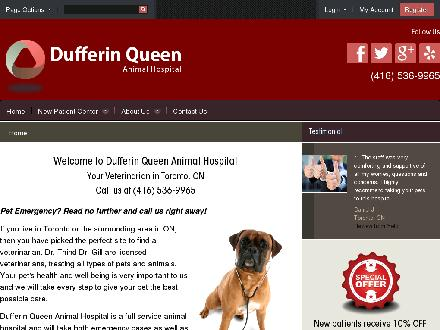 Dufferin Queen Animal Hospital (416-536-9965) - Website thumbnail - http://www.dqvet.com