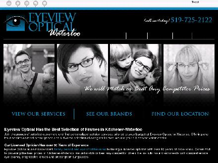 Eyeview Optical (226-214-4489) - Onglet de site Web - http://eyeviewwaterloo.ca/