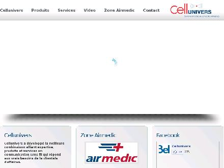 Cellunivers (418-527-9001) - Onglet de site Web - http://www.cellunivers.com