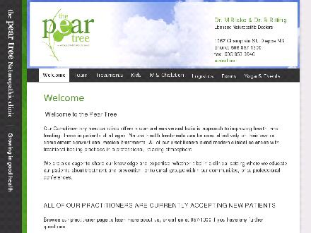 The Pear Tree Naturopathic Clinic (506-857-1300) - Website thumbnail - http://www.thepeartreeclinic.info