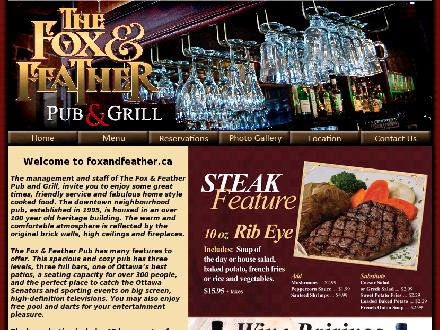 Fox & Feather Pub and Grill (The) (613-233-2219) - Website thumbnail - http://www.foxandfeather.ca