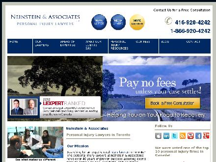 Neinstein &amp; Associates (647-977-9563) - Onglet de site Web - http://www.neinstein.com