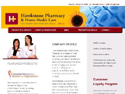 Hawkstone Pharmacy & Home Health Care (780-433-3413) - Onglet de site Web - http://www.hawkstonepharmacy.com