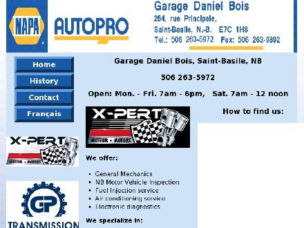 Garage Daniel Bois Autopro (1-888-282-0109) - Onglet de site Web - http://www.garagedanielbois.com