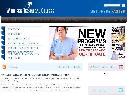 Winnipeg Technical College (204-989-6500) - Website thumbnail - http://www.wtc.mb.ca