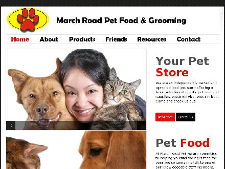 March Road Pet Food & Grooming Inc (613-591-9423) - Onglet de site Web - http://www.marchroadpet.com