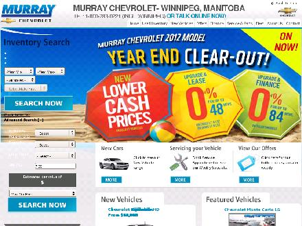 Murray Chevrolet (204-261-6200) - Website thumbnail - http://www.murraychevhummer.ca