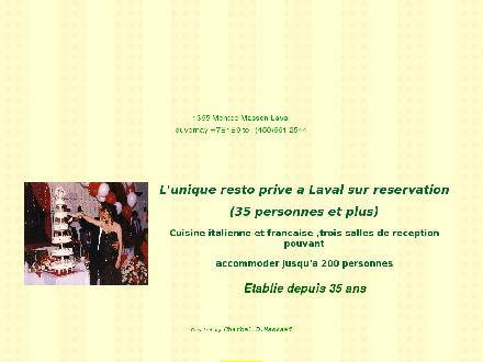 Restaurant Bellavista (450-661-2544) - Onglet de site Web - http://bellavista-sallesdereception.com